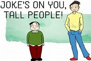 Top Short Funny Jokes About Tall People One Liners